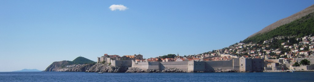 Dubrovnik Panorama from Sea / view