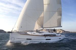 Dufour 500 Grand Large exterior bow sailin